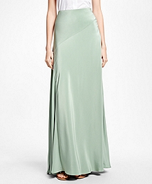 Silk Crepe Maxi Skirt