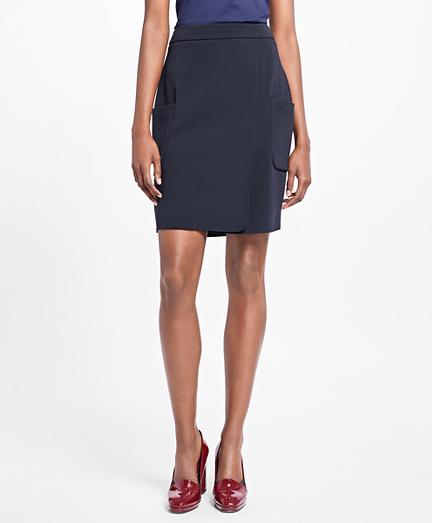 A-Line Crepe Satin Skirt