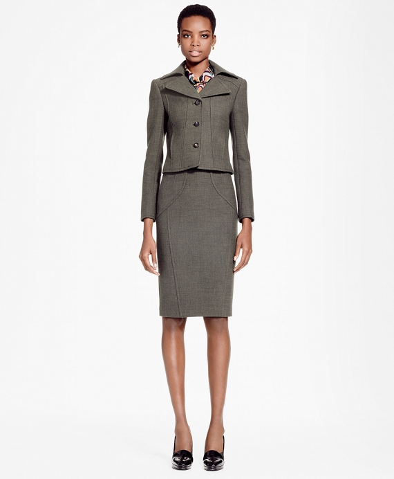 Stretch-Wool Pencil Skirt - Brooks Brothers