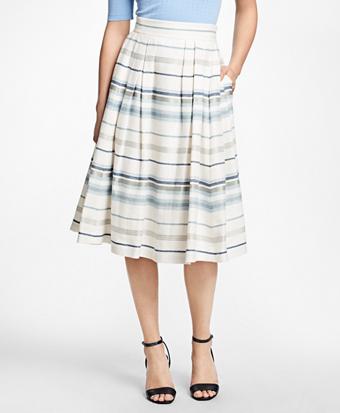 Striped Circle Skirt