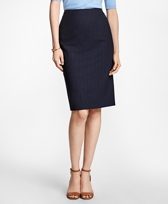 Pinstripe BrooksCool® Pencil Skirt