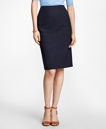 Pinstripe BrooksCool® Pencil Skirt
