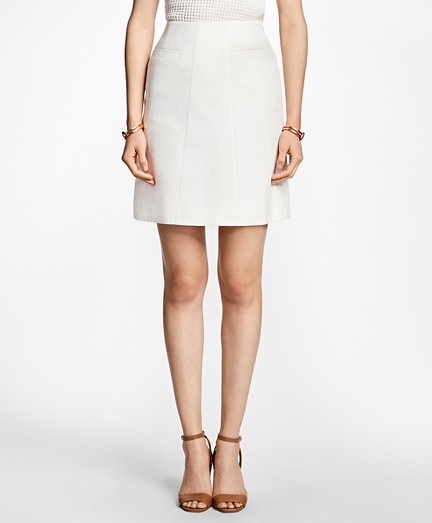 Stretch-Cotton A-Line Skirt