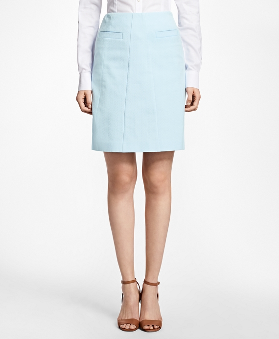Stretch-Cotton A-Line Skirt
