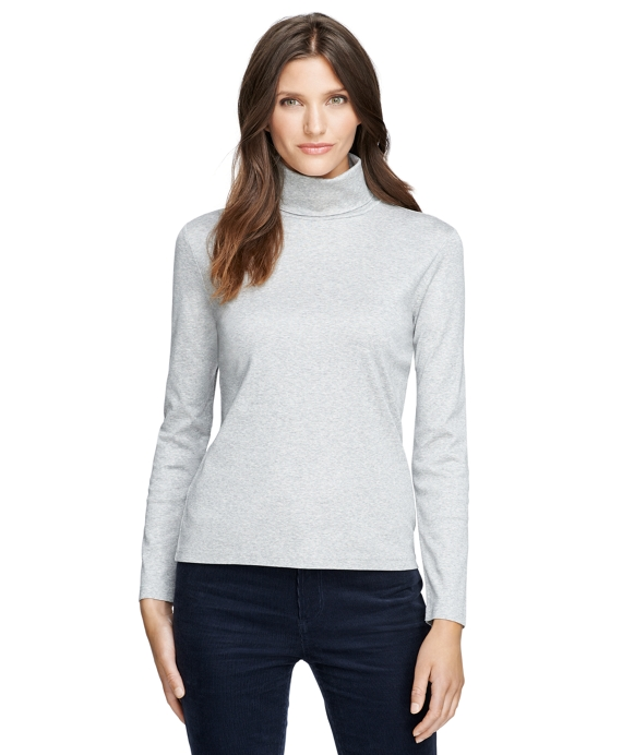 Cotton Turtleneck Light Grey