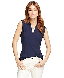 Jersey Knit Sleeveless Shell