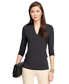 V-Neck Three-Quarter Sleeve Shirt