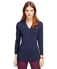V-Neck Three-Quarter Sleeve Shirt