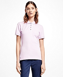 Slim-Fit Cotton-Blend Pique Polo