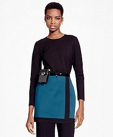 Color-Block Ponte Knit Tunic