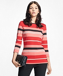 Cabana Stripe Boatneck Top