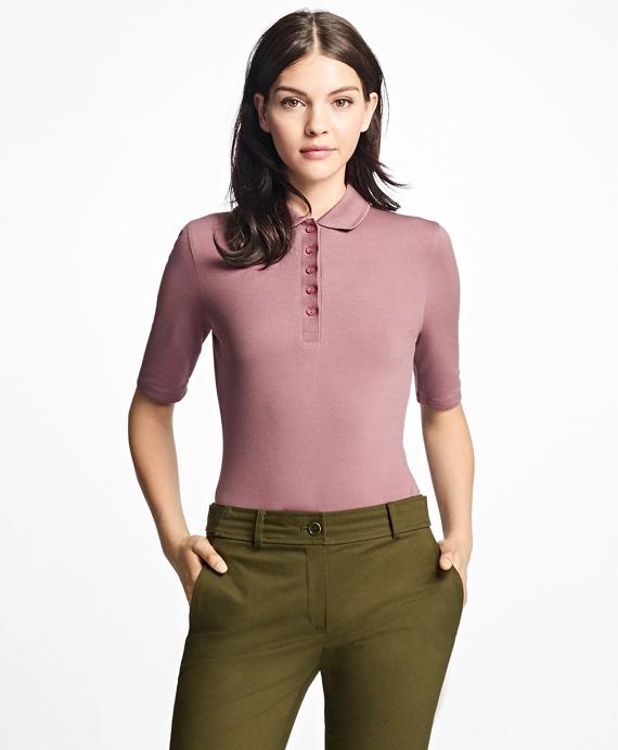Slim-Fit Cotton-Blend Polo Shirt Rose