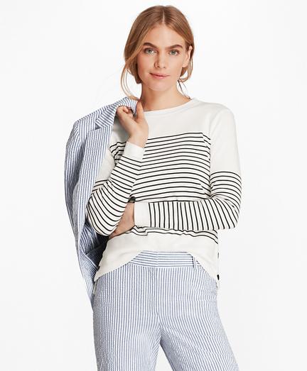 Striped Supima® Cotton Interlock Jersey Tunic