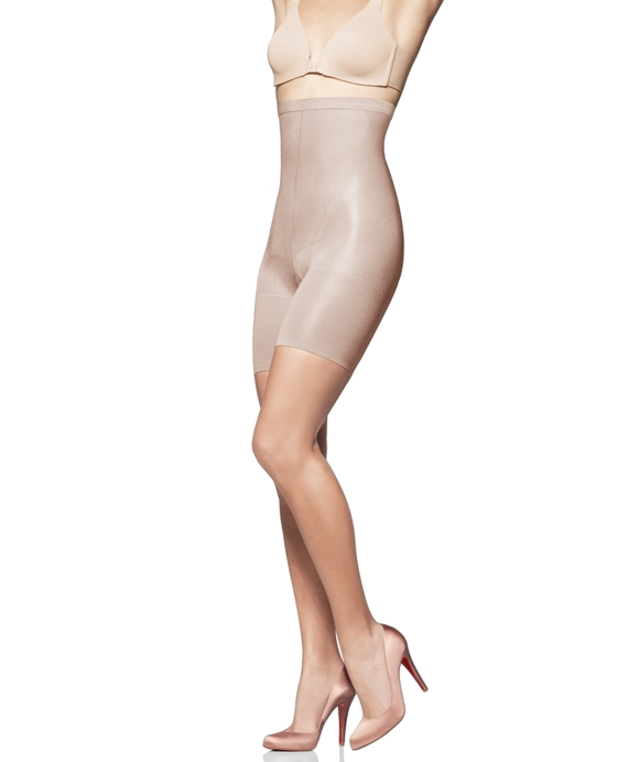 Spanx® Super Higher Power Mid Thigh and Belly Shaper Nude