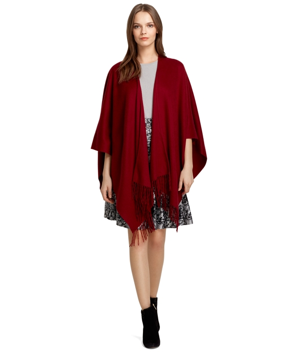 Cashmere Ruana Red