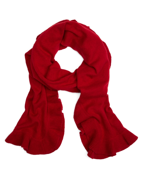 Cashmere Ruffle Wrap Red