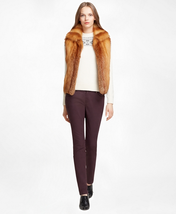 Fox Fur Vest Red