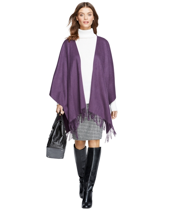 Cashmere Ruana Dark Purple