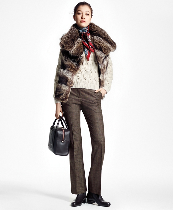 Raccoon Fur Vest Brown