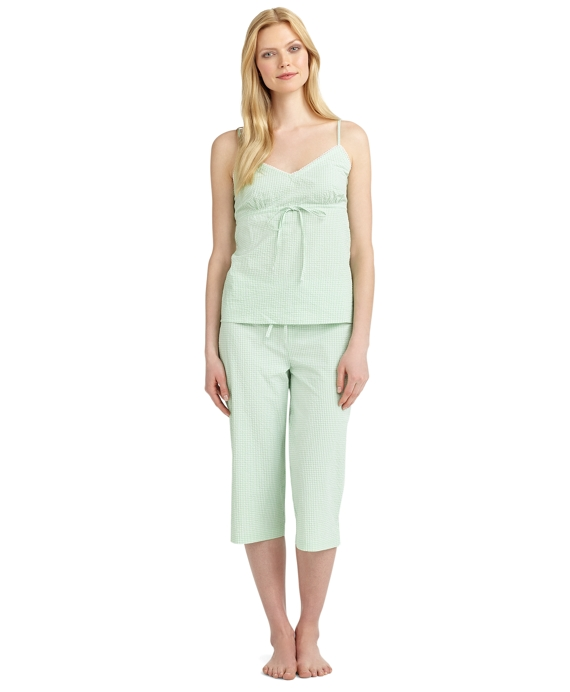 Seersucker Pajama Set Green