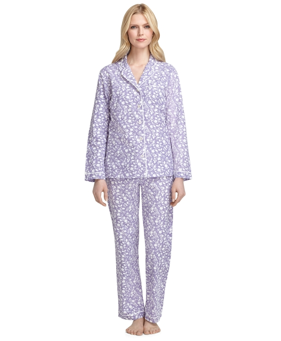 Wildflower Print Pajamas Purple