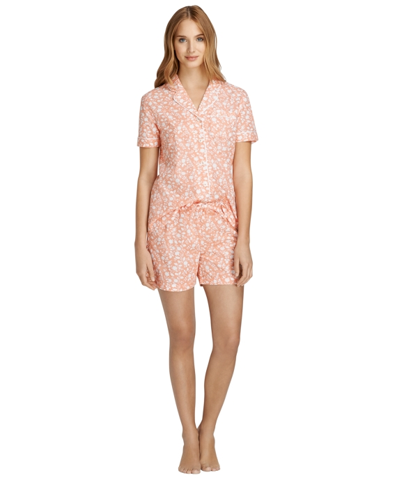 Short-Sleeve Wildflower Print Pajamas Lobster