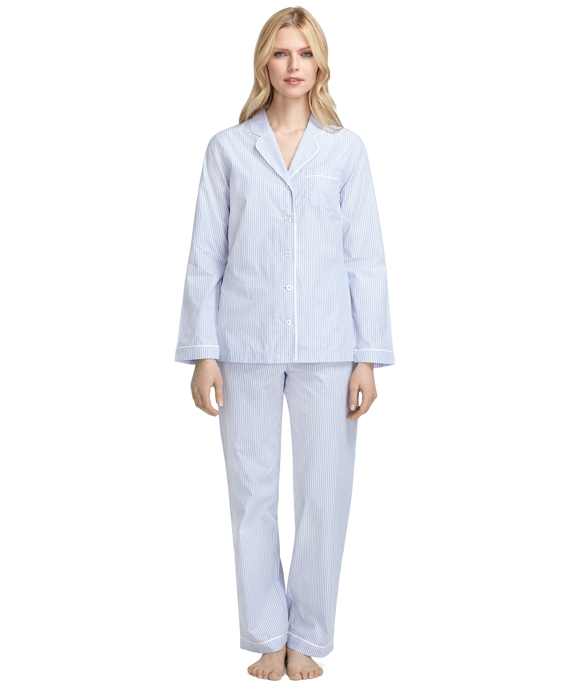 Stripe Pajamas Blue-Pink