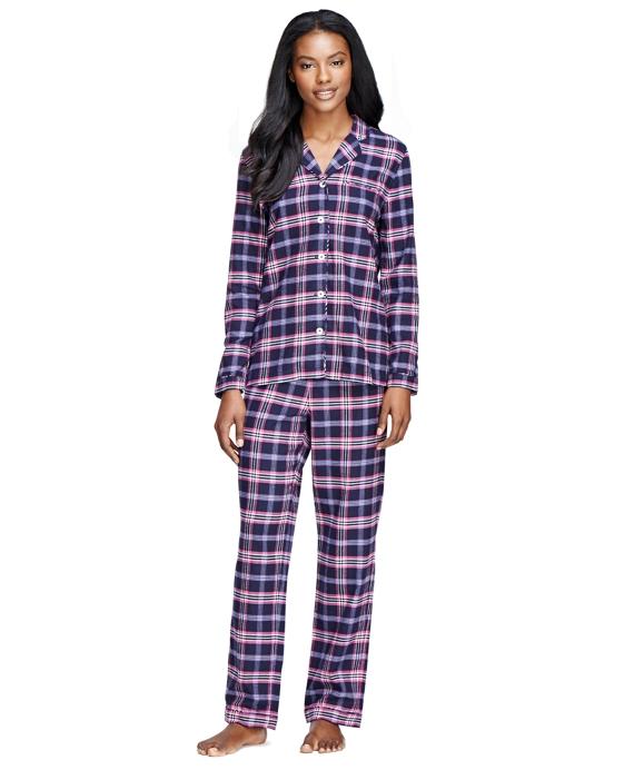 Cotton Tartan Pajama Set Navy