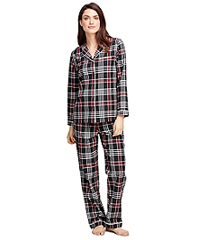 Cotton Plaid Pajama Set