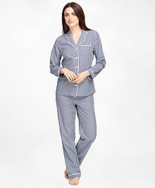 Cotton Gingham Pajama Set