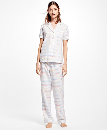 Cotton Multi-Stripe Pajamas