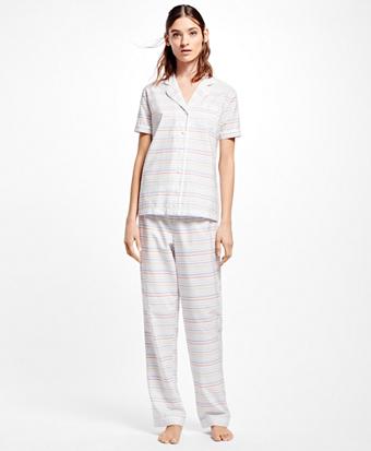 Cotton Multi-Stripe Pajamas