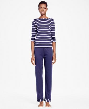 Striped Interlock Pima Cotton Pajama Set