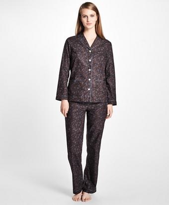Paisley Cotton Poplin Pajama Set