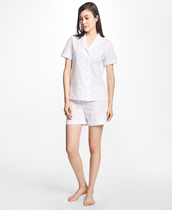 Logo-Print Cotton Pajama Set