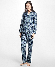 Palm Tree Print Supima® Cotton Pajama Set