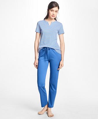 Stripe Cotton Pajama Set