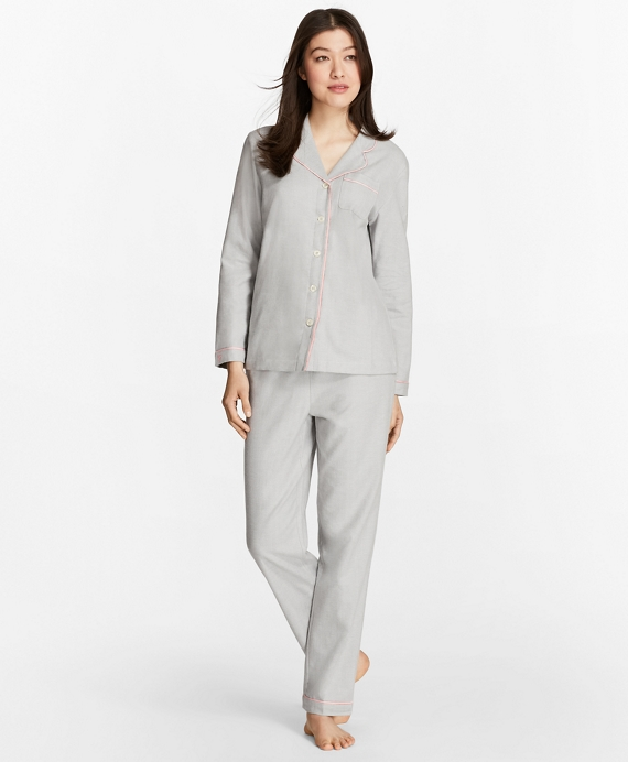 Herringbone Cotton Flannel Pajama Set