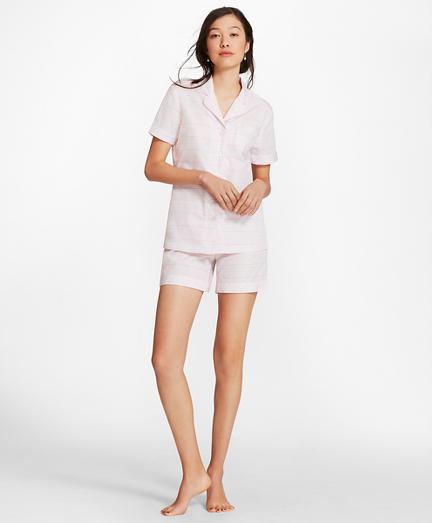 Striped Cotton Poplin Pajamas