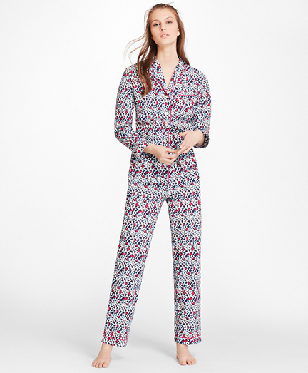 """B""-Print Cotton Poplin Pajama Set"