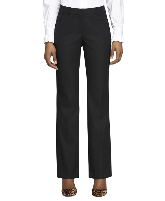 Wool Stretch Caroline Fit Trousers Black