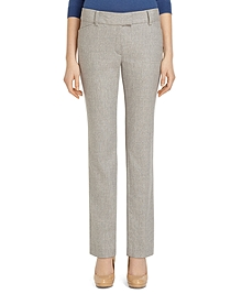 Lucia Fit Wool Flannel Slim Trousers