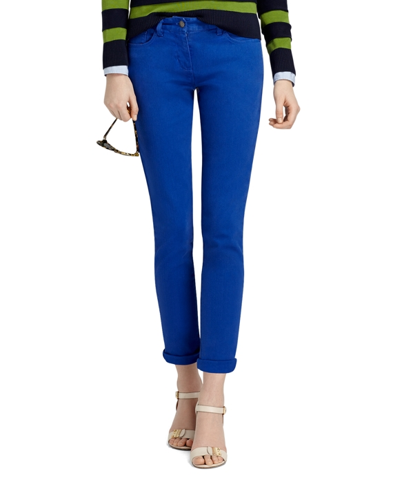 Janie Fit Five-Pocket Cotton Stretch Pants Mazarine Blue