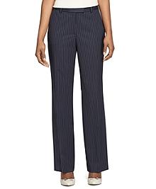 Caroline Fit Wool Pinstripe Trousers