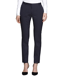 Natalie Fit Wool Pinstripe Trousers