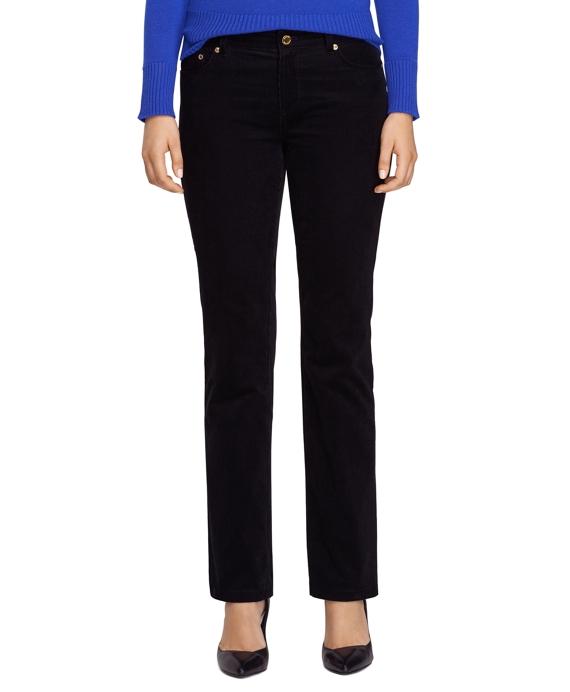 Caroline Fit Five-Pocket Corduroy Pants Black