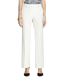 Caroline Fit Plain-Front Gabardine Trousers