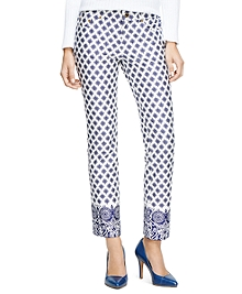 Natalie Fit Medallion Print Five-Pocket Jeans
