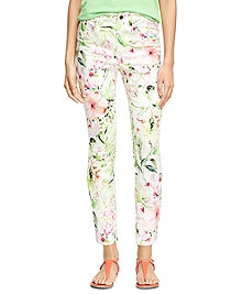 Natalie Fit Floral Cotton Pants