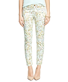 Natalie Fit Cotton Floral Print Pants